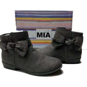 MIA Shoes Girl's Gray Reign Ankle Boots Size 5 NIB